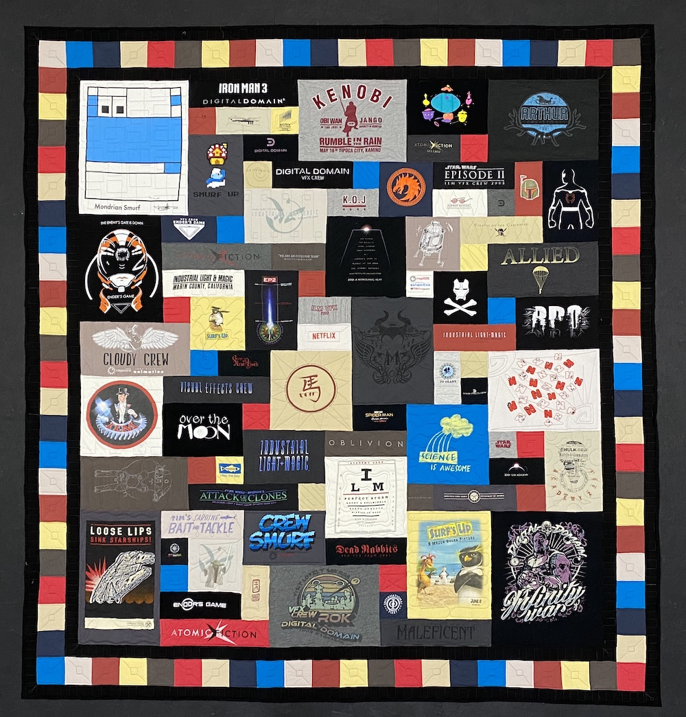 Too Cool T-shirt quilt with a triple border