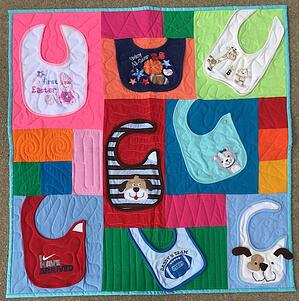 """The baby bid quilt here is 36"""" x 36"""""""