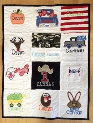 Baby memorial quilt.