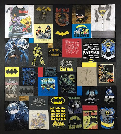 Batman T-shirt quilt
