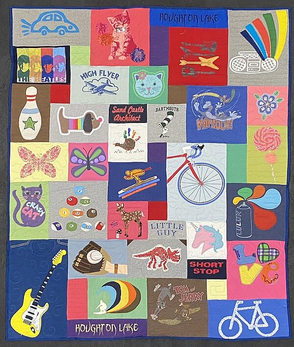 Best of T-shirt quilt of 2020  - little kid