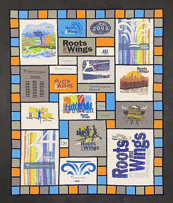 Best of T-shirt quilt of 2020  Roots & Wings Run Stained Glass