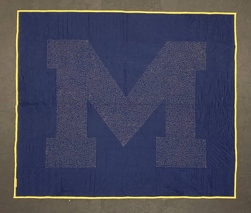 Best of T-shirt quilt of 2020  U of M Quilt Back