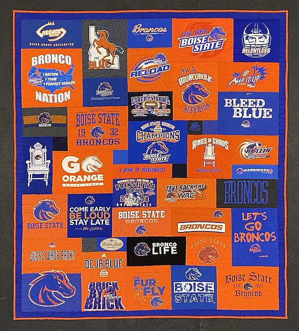 Best of T-shirt quilt of 2020 - Boise State