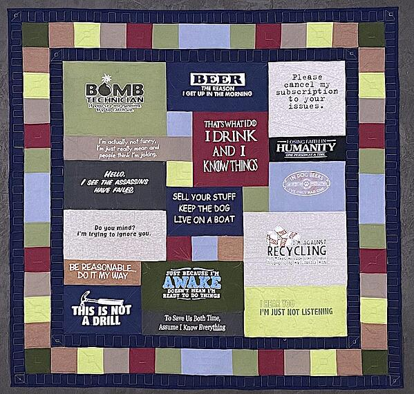 Best of T-shirt quilt of 2020 - Bomb
