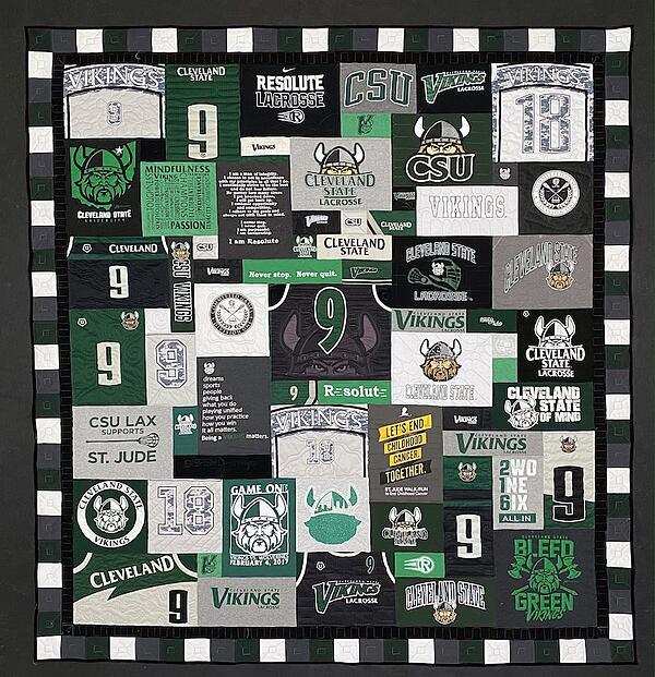 Best of T-shirt quilt of 2020 - Cleveland State