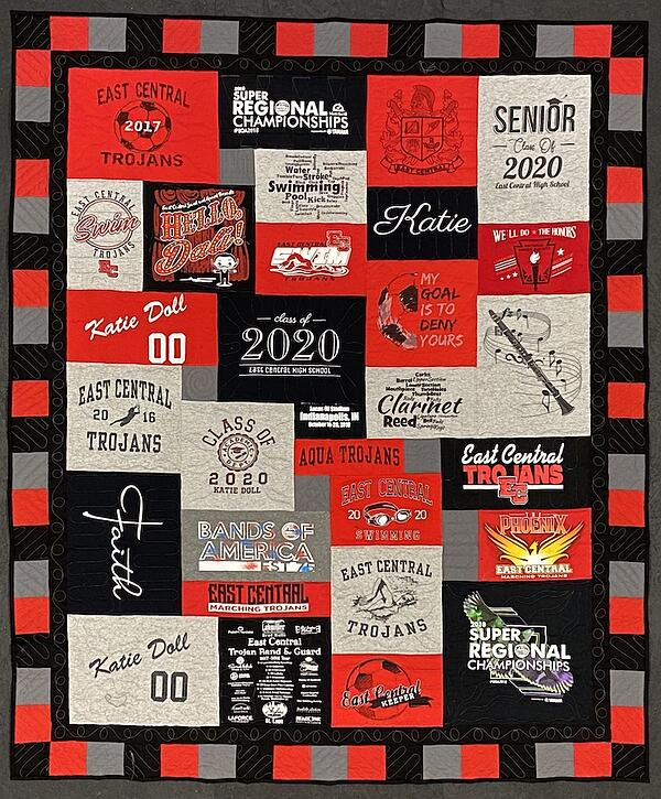 Best of T-shirt quilt of 2020 - East Central HS T-shirt Quilt