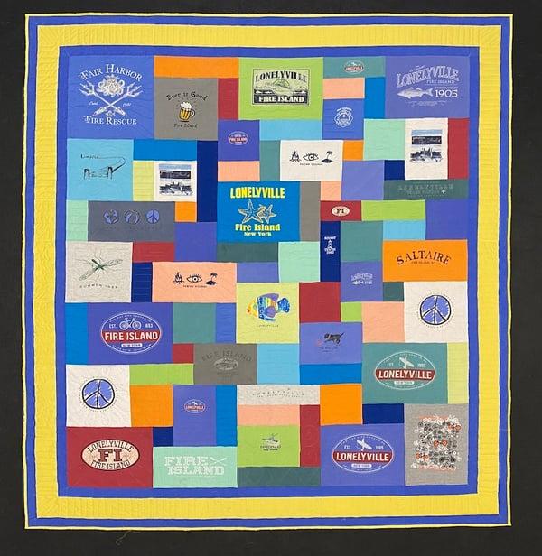 Best of T-shirt quilt of 2020 - Fire Island