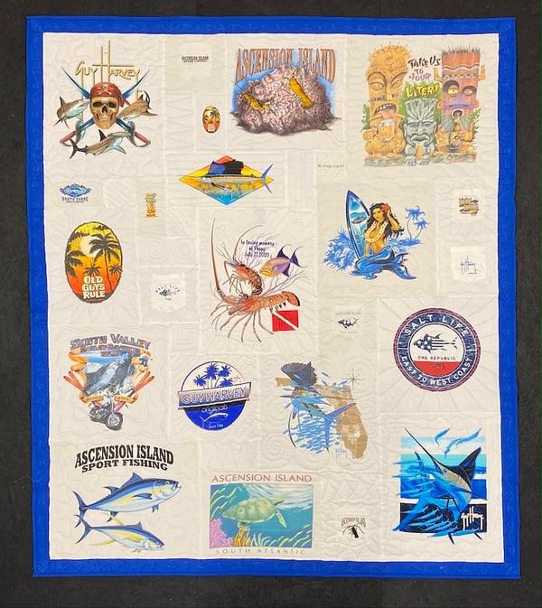 Best of T-shirt quilt of 2020 - Guy Harvey T-shirt Quilt