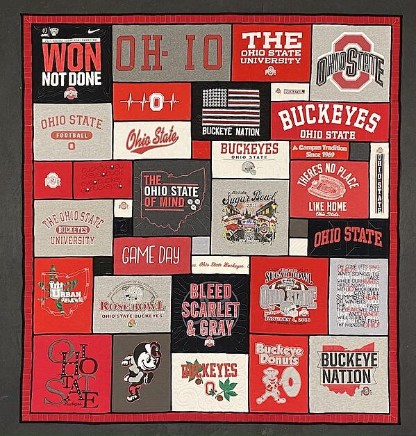 Best of T-shirt quilt of 2020 - Ohio State Stained Glass