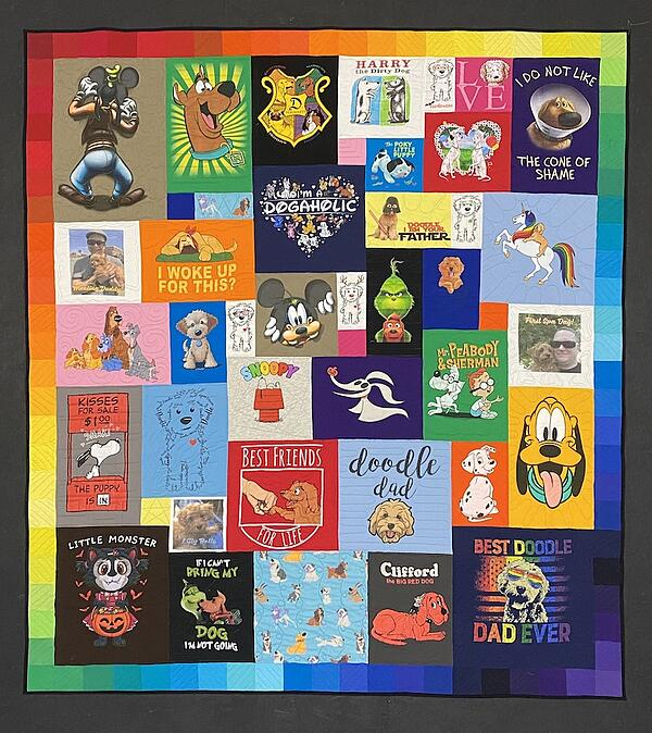 Best of T-shirt quilt of 2020 - dogs, dogs, dogs quilt