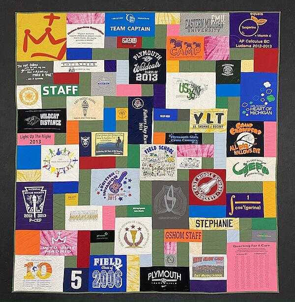 Best of T-shirt quilt of 2020 - graduation T-shirt Quilt
