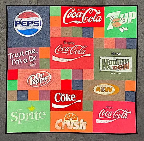 Best of T-shirt quilt of 2020 - Pop or Soda logos