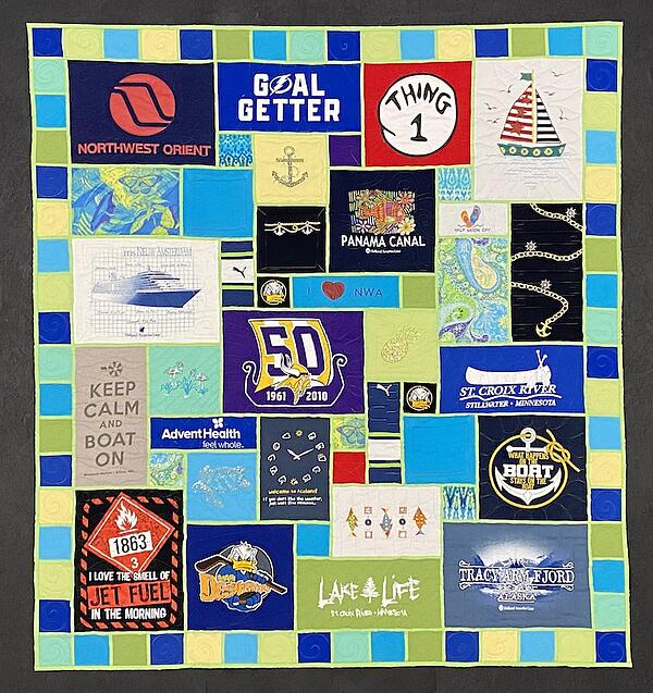 Best of T-shirt quilt of 2020 Grandmothers stainted glass T-shirt quilt