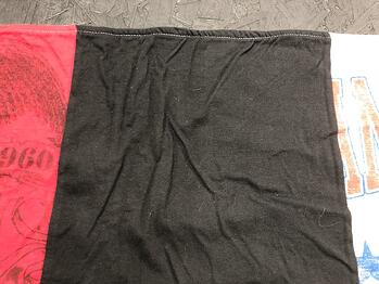 This shows the front of a blanket and you can see how the two layers are not connected and how messy it will look.