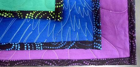 Backing and bindings show on the backs of T-shirt quilts.