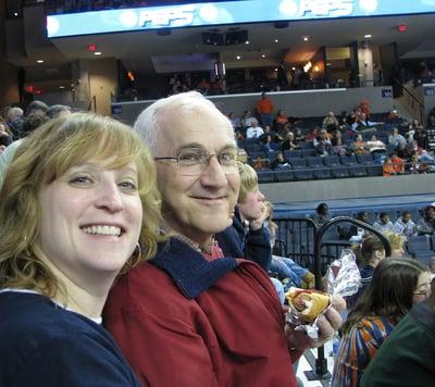 Carmen And Dad at a UVA BasketballGame