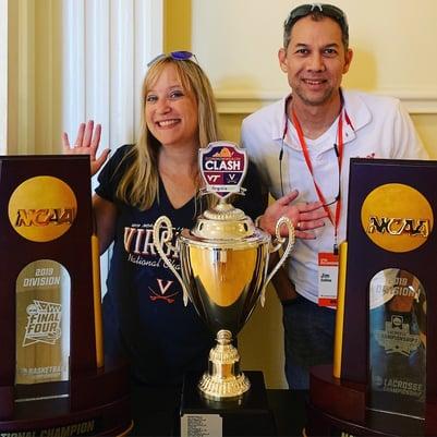 Championship Trophy for NCAA basketball 2019 UVA