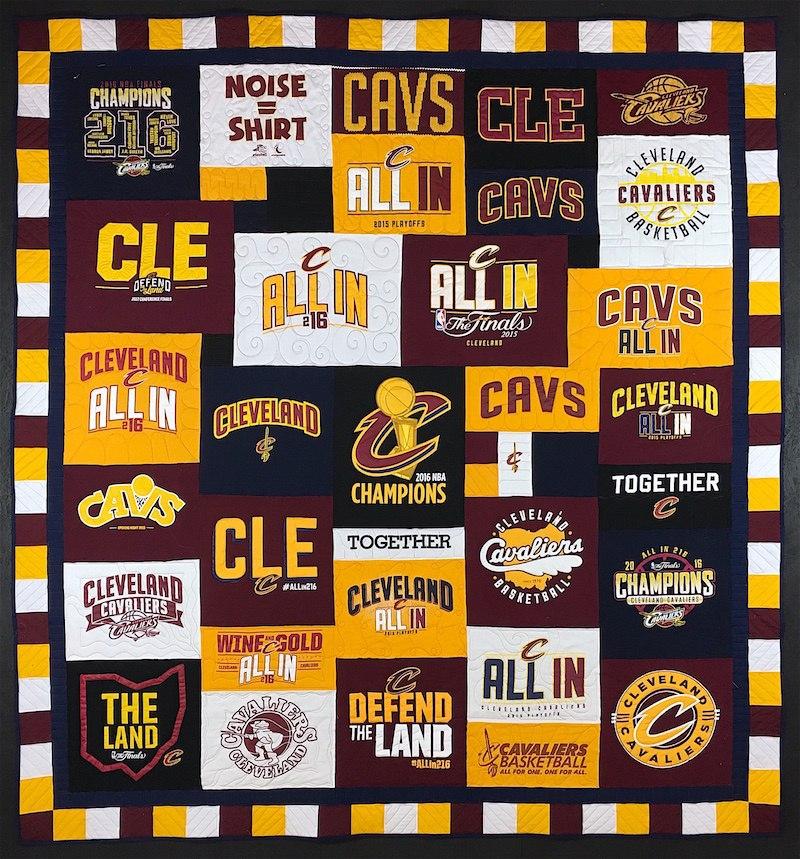 Cleveland Cavs T-shirt quilt