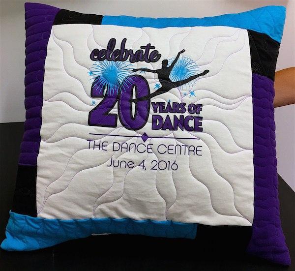 Dance T-shirt pillow