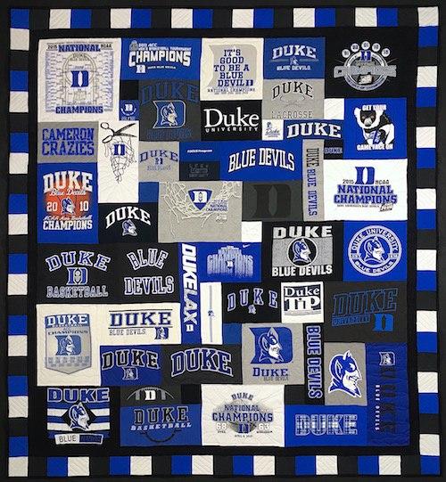 Duke 2017 T-shirt Quilt