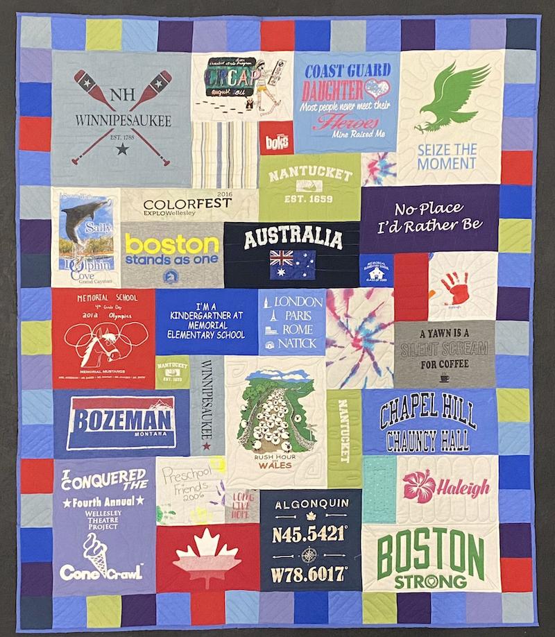 East Coast graduation quilt Too Cool T-shirt Quilts