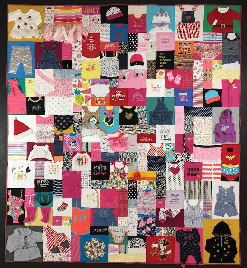 Baby clothes quilt by Too Cool