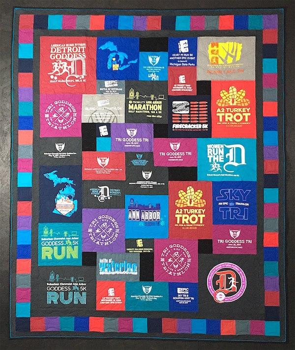 Epic Races T-shirt quilt