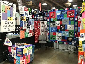 Too Cool T-shirt Quilts at a running expo