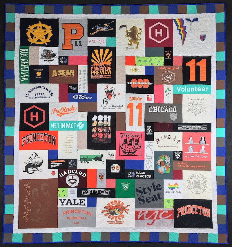 T-shirt quilt with fillers