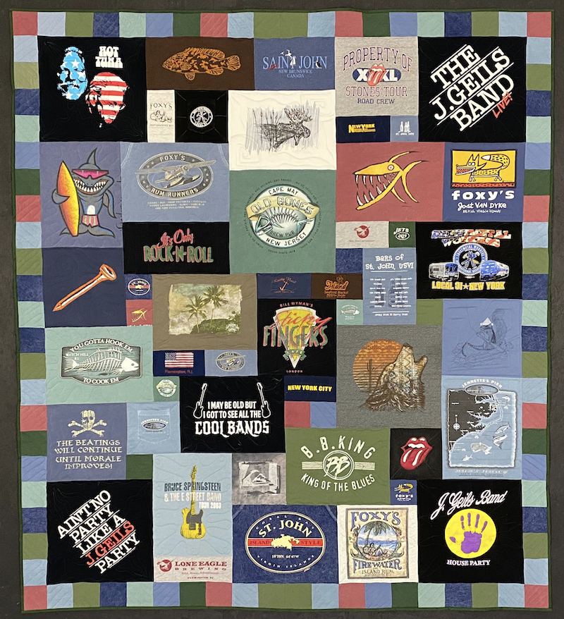 Fish  quilt - Too Cool T-shirt Quilts