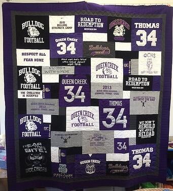 Quilts Made From Football Jerseys : quilts made from sports jerseys - Adamdwight.com