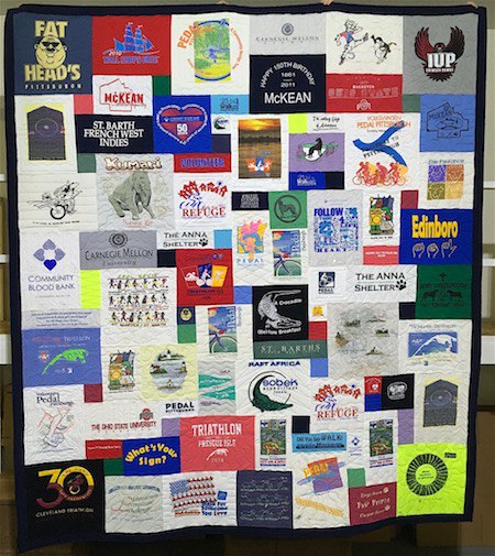 A Gorgeous T-shirt quilt.