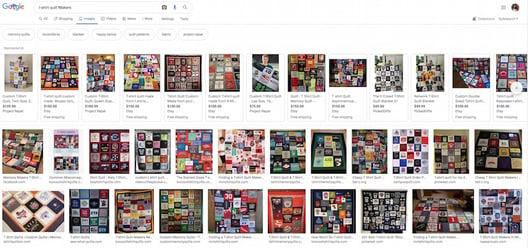 Googlet-shirt quilt 800