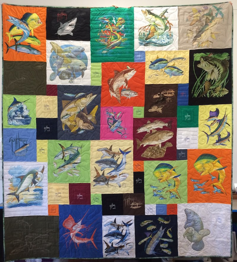 Guy Harvey T-shirt Quilt