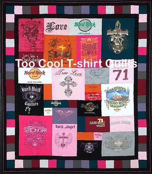 Hard Rock Cafe T-shirt quilt.