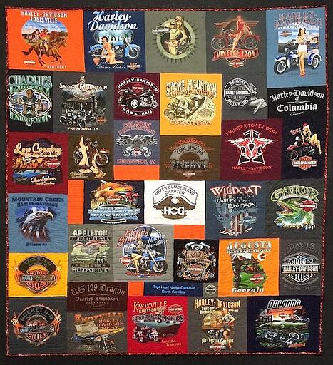 Awesome Harley T-shirt Quilt