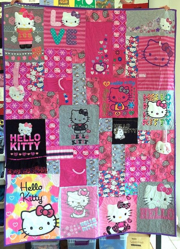 Hello Kitty T-shirt quilt