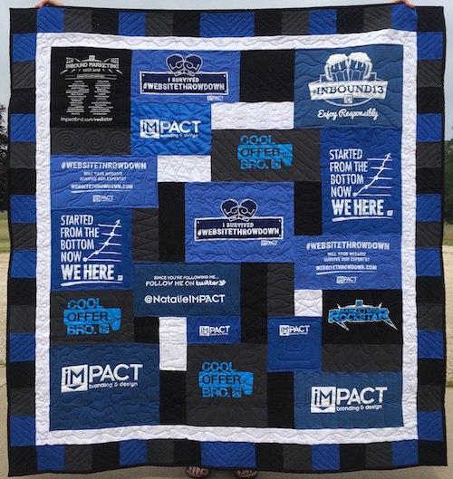 Impact Marketing T-shirt quilt