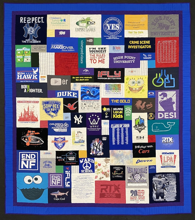 T-shirt quilt by Too Cool T-shirt Quilts