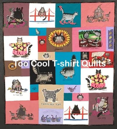 Kliban Cats T-shirt Quilt