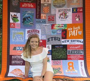 This hs graduate loves her T-shirt quilt