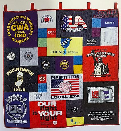 Labor Union quilt mad from T-shirts