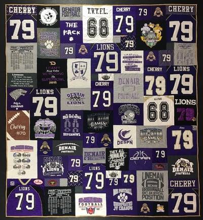 Denair T-shirt quilt by Too Cool T-shirt Quilts