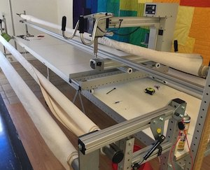 Long arm quilting machine for T-shirt quilts