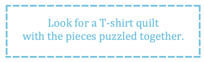What to look for in a T-shirt quilt - puzzled blocks