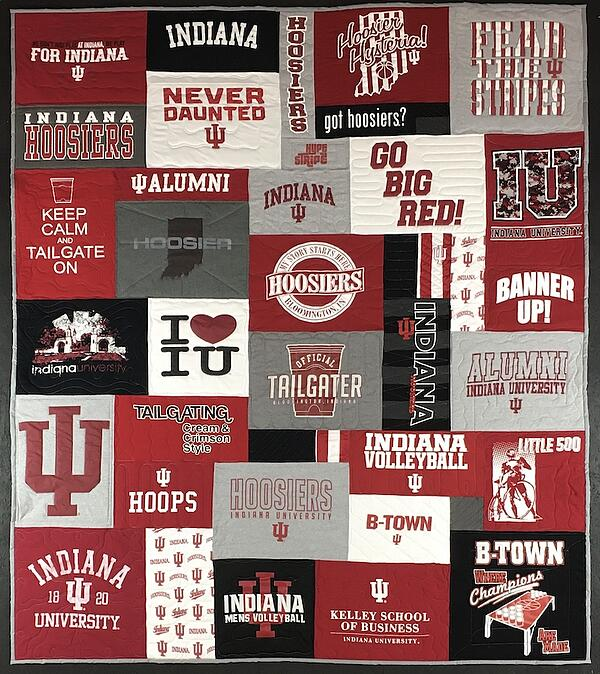IU T-shirt quilt - very cool