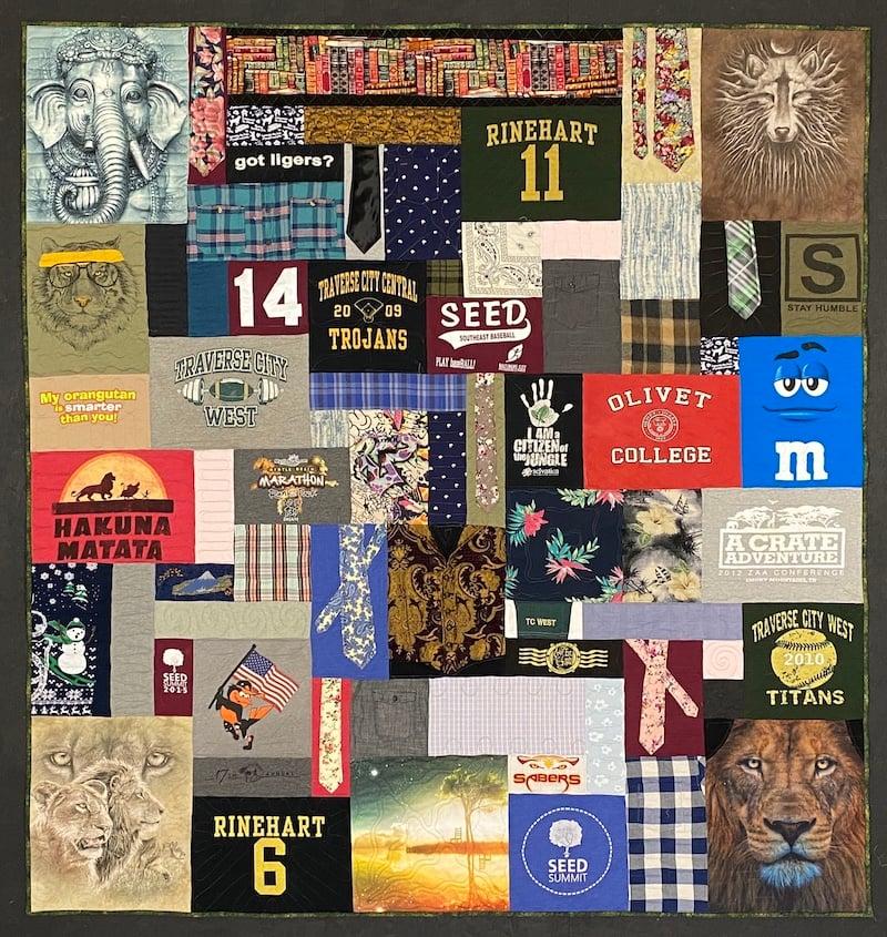 Memorial quilt includes neckties
