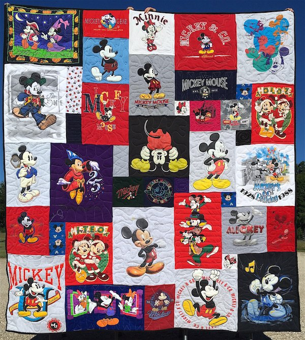 Mickey Mouse T-shirt Quilt
