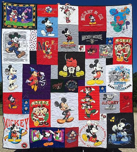 Mickey themed T-shirt quilt